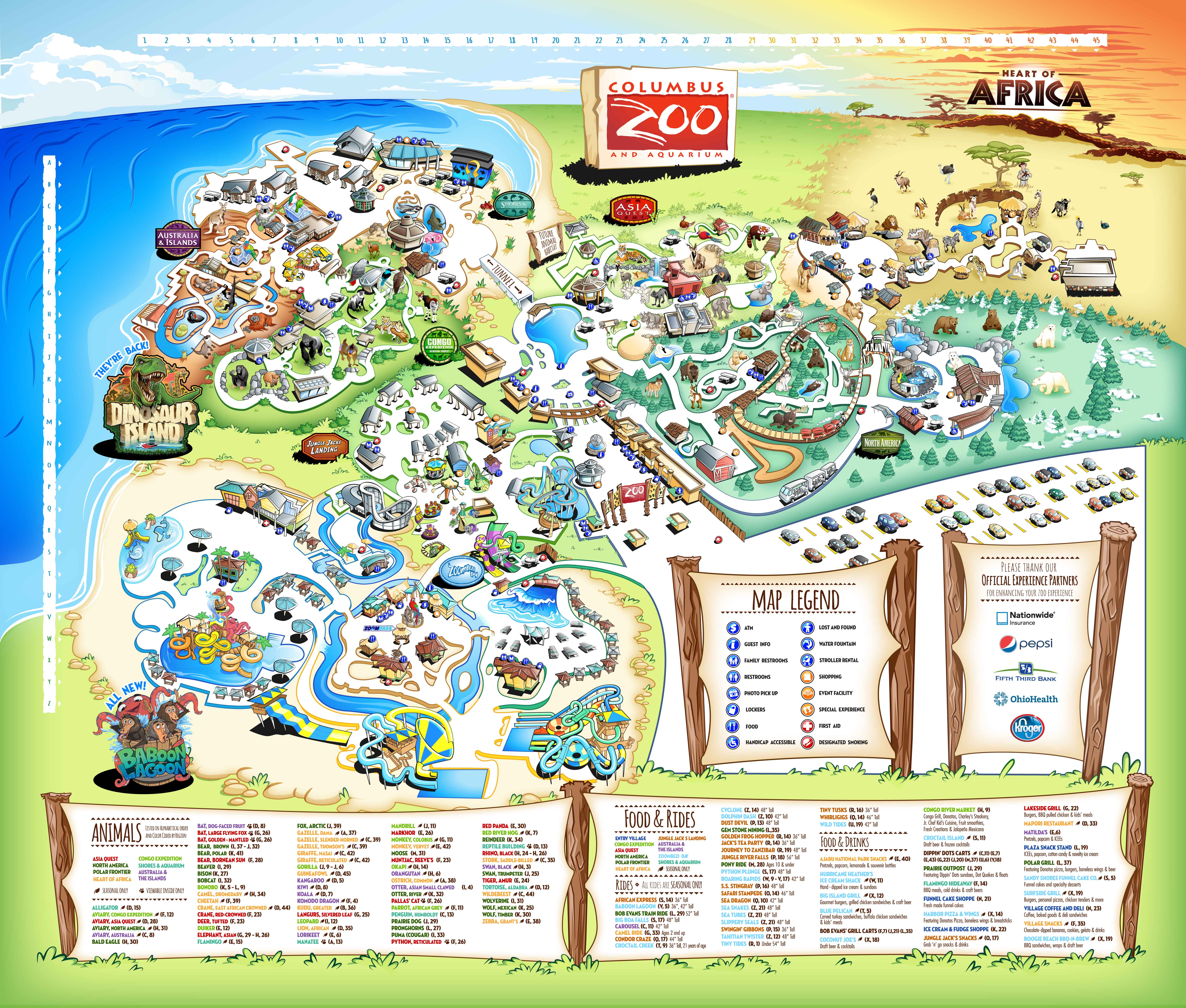 Australia Zoo Map 2018.Columbus Zoo And Aquarium Know Before You Go
